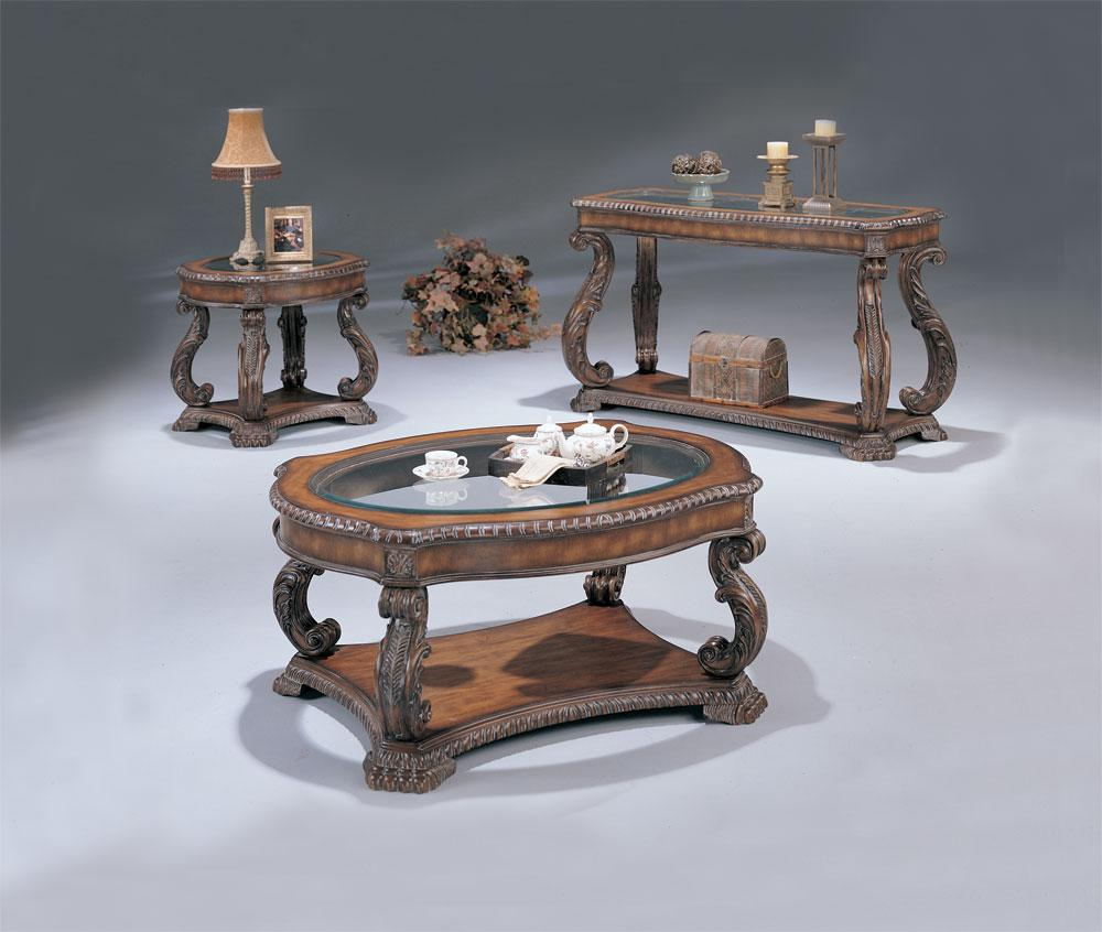 Antique Coffee Tables -  Wood Coffee Tables - Antique Sofa Tables - Wood End Tables - LaPorta Furniture - Discount Online Furniture Store