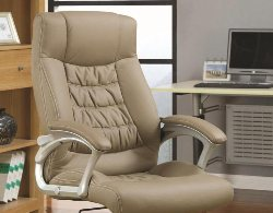 Beige Office Chair - Adjustable Office Chair - Home Office Chairs - Office Chairs for Sale - Discount Online Furniture