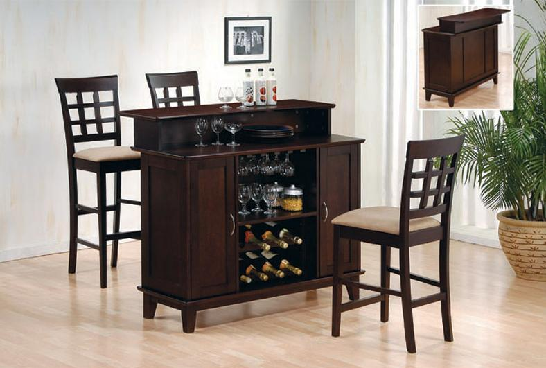 Home Wine Bars - Wine Racks and Bars - Cappuccino Bar - Bar for Home - Wood Bars - Discount Online Furniture Store