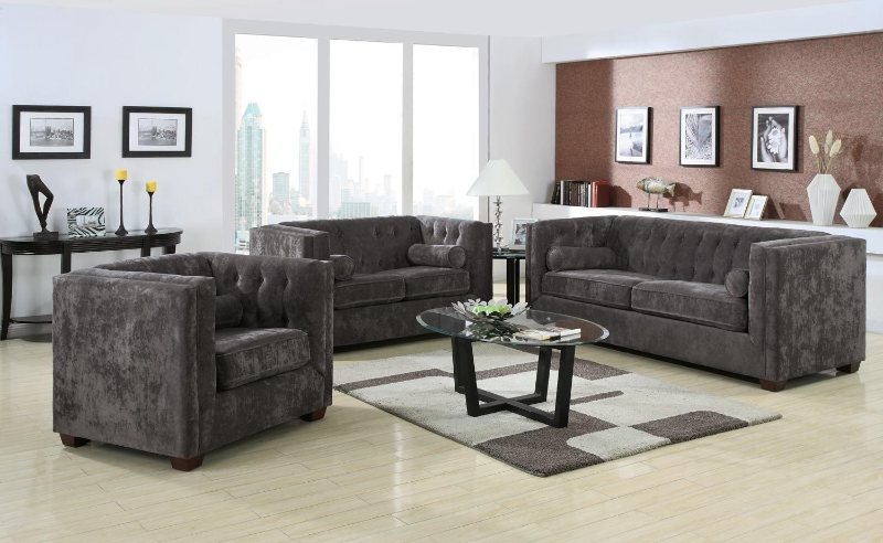 Microvelvet Sofas - High Arm Sofa and Chairs - Living Room Furniture on Sale - Discount Online Furniture