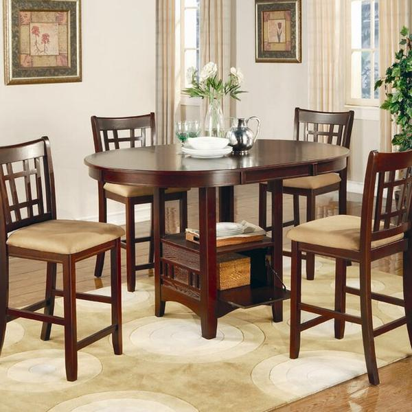 Counter Height Dining Tables - Real Wood Dining Tables - Counter Height Dinette Sets - Discount Dining Room Table and Chairs