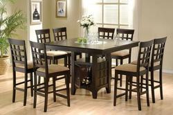 Counter Height Dining Set with Built In Wine Rack - Discount Furniture