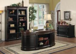 Oval Office Desk - Oval Executive Home Office Desk - Real Wood Office Furniture - Solid Wood Bookcase - Discount Online Furniture