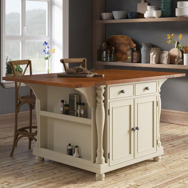 Kitchen Island Table - Kitchen Islands for Sale - Cherry Kitchen Island - Buttermilk Kitchen Island - Discount Online Furniture