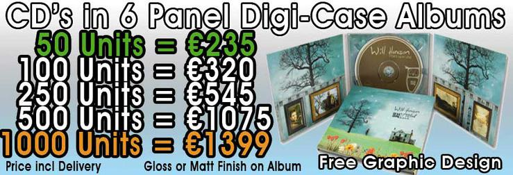 CD 6 Panel Digipak Packages Click Here
