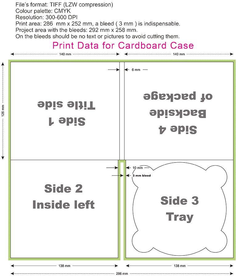 Cardboard Case Template 4 Panel