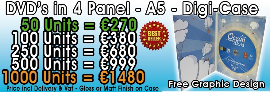 DVD in A5 Digipak Prices