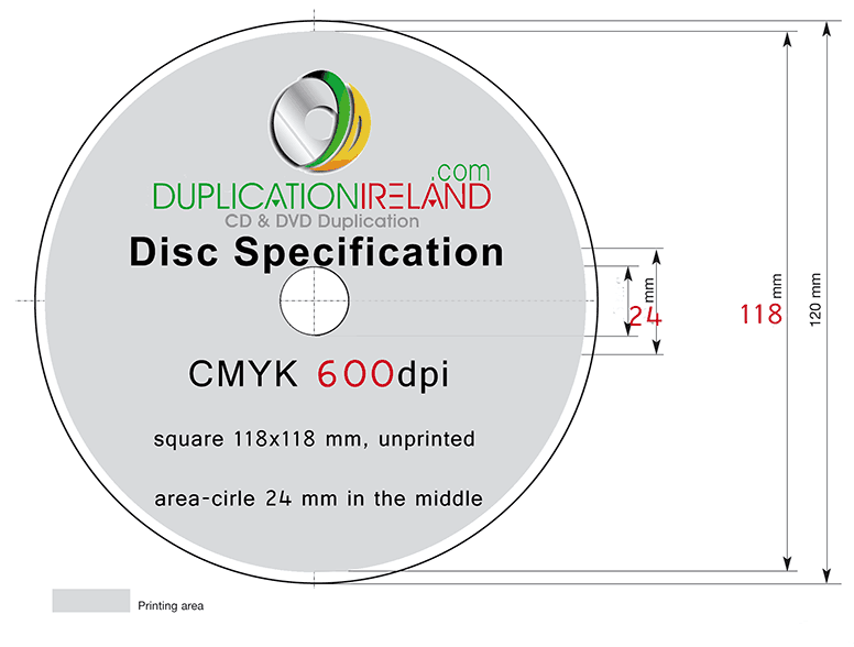 CD DVD Disc Template