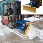 forklift snowplow picture