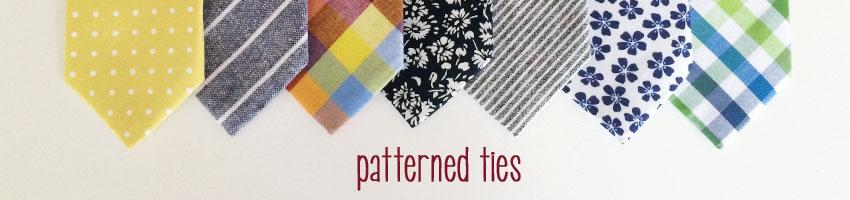 patterned groomsmen neckties