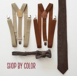 Brown Groomsmen Suspenders