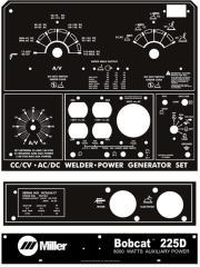 Miller Welder Bobcat 225D, 3-Pcs
