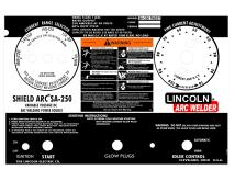 lincoln arc welder control panel l-6701