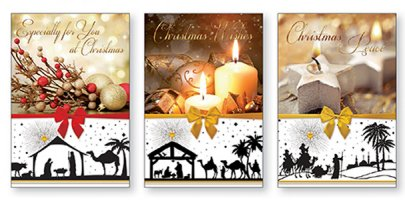 Candle Tr�caire Christmas Cards.