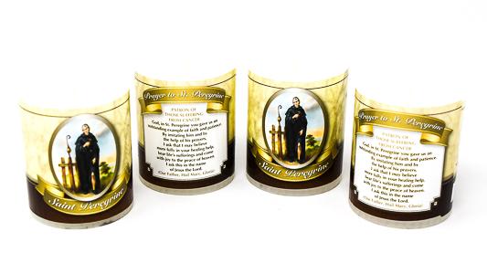 Votive Candle's Saint Peregrine.