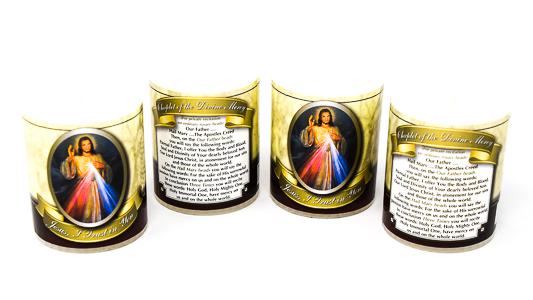 Votive Candle's Divine Mercy.