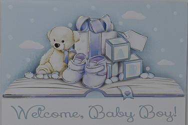 Baptism Card for a Boy.