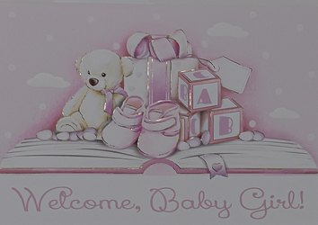 Baptism Card for a Girl.