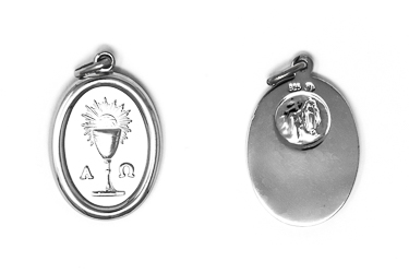 Sterling Silver Oval Chalice Medal.