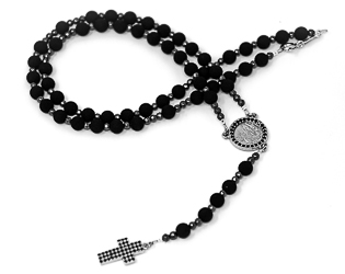 Volcanic Rock Rosary Beads.