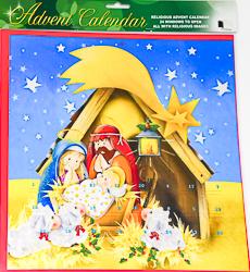 Joseph Mary & Baby Jesus Advent Calendar.