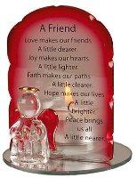 Angel Candleholder - A Friend.