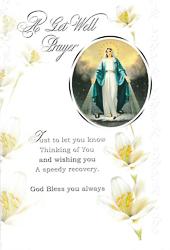 Get Well Prayer Card - Miraculous.