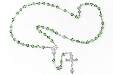 Birthstone Rosary Beads August.