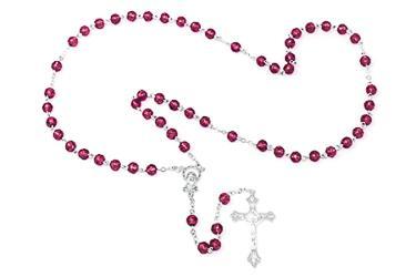 Birthstone Rosary Beads - February