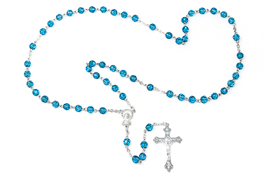 Birthstone Rosary Beads - March