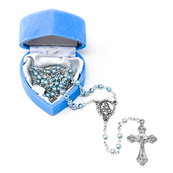 Baby Blue�Rosary Beads.