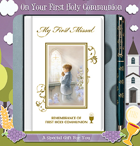 Boys First Holy Communion Gift Set.
