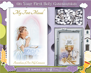 Girls Communion Gift Set.