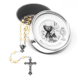 Communion Rosary Photo Box.
