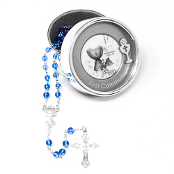 Communion Rosary Photo Box.