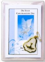 Confirmation Pearl Brooch & Leaflet.