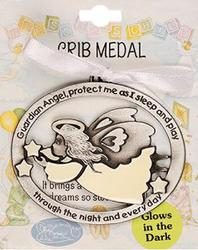 Guardian Angel Crib Medal.
