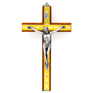 Mahogany Crucifix.