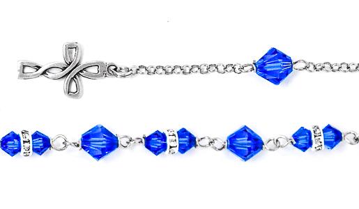 925 Crystal Rosary Bracelet.