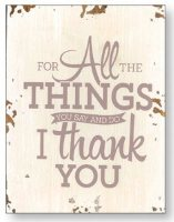 Distressed Wood Wall Plaque Thank You.