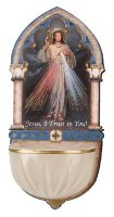 Divine Mercy Luminous Holy Water Font.