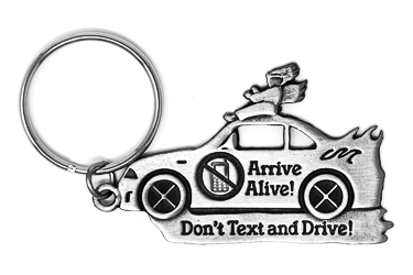 Don't Text & Drive Key Ring