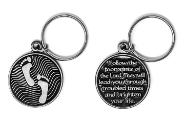 Footprints Key Ring
