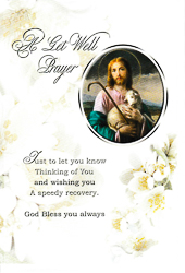 Get Well Prayer Card - Jesus the Good Shepherd.