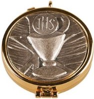 Pyx in Antique Silver & Chalice Motif.