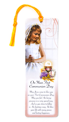 Girl's Communion Bookmark.