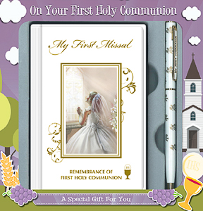 Girls First Holy Communion Gift Set.
