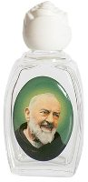 Glass Holy Water Bottle Saint Pio.