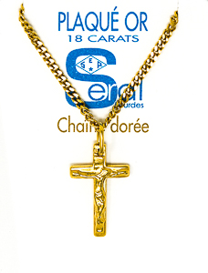 Gold Crucifix Necklace.