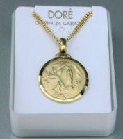 Gold Lourdes Necklace.